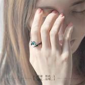 花芽原創荊棘情侶對戒純銀戒指一對日韓男女潮人個性開口尾戒禮物   LannaS