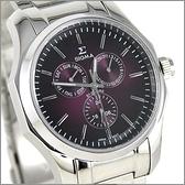 【萬年鐘錶】SIGMA日系 三眼時尚錶 1018M-15
