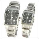 【萬年鐘錶】SIGMA日系 灰經典時尚對錶 8801M-8801L-01