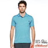 Wildland 荒野 0A81616-52海藍色 男POLO貼袋針織上衣 抗UV/吸濕快乾/彈性休閒衫/團體服/登山服