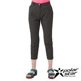 PolarStar 女 彈性合身九分褲『暗灰』P21302 戶外 休閒 登山 露營 運動褲 釣魚褲