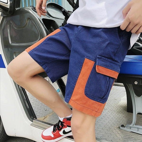 FINDSENSE H1 2018 夏季 新款 男工裝  撞色多口袋  舒適透氣