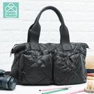 空氣包 側背包 防潑水大容量兩用手提媽媽包 女包 89.Alley-HB89255