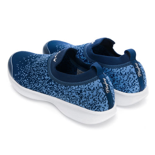 PLAYBOY 彩織時尚 超輕量針織襪套休閒鞋-藍