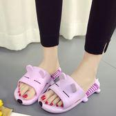 韓版可愛拖鞋女士夏季室內浴室防滑卡通居家居洗澡速幹軟底涼拖鞋   酷男精品館