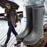 dr春夏釣魚鞋防水防滑套鞋中筒水鞋膠鞋雨靴戶外雨靴成人雨鞋男 卡布奇诺