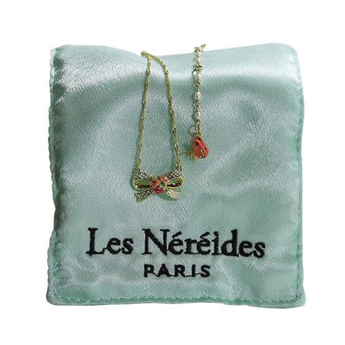 法國 Les Nereides 可愛蝴蝶結珍珠小蝴蝶項鍊-只有一條售完不補貨