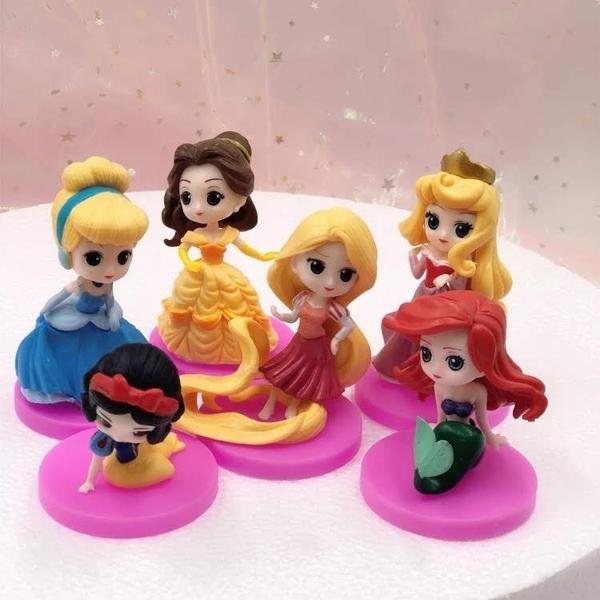 永生花製作公仔,迪士尼公主系列 一組六款 (不包含花材與壓克力盒),圖三示範圖
