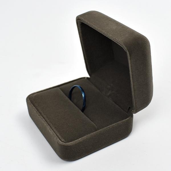 戒指盒 簡雅咖色絨布飾品禮盒【NAWA21】