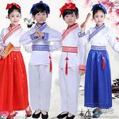 女童漢服男童古裝漢服國學服書童弟子規表演服裝三字經演出服  衣櫥秘密