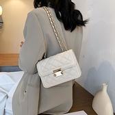 夏季小包包女包2021網紅新款潮時尚菱格鏈條包百搭ins單肩斜背包 夏季新品