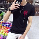 短袖T恤 男士修身圓領上衣男裝大碼夏季短衫韓版《印象精品》t11