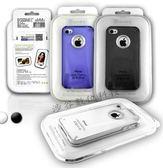 ~Apple   ~AproLink iphone 4 4S 鋁環奧地利水晶透色保護殼無鑽