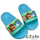 【樂樂童鞋】台灣製POLI救援小隊拖鞋-湖水綠 P062 - 男童鞋 拖鞋 室內鞋 兒童拖鞋 大童鞋 小童鞋