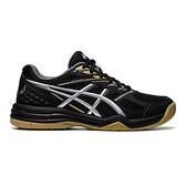 Asics Upcourt 4 Gs [1074A027-001] 大童鞋 運動 休閒 排球 輕巧 支撐 抓地力 黑 銀