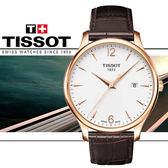 【僾瑪精品】TISSOT  T-TRADITION 復古簡約大三針時尚腕錶-42mm/T0636103603700