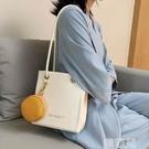 托特包 夏季上新女士包包流行新款潮時尚手提托特包百搭大容量單肩包 韓菲兒