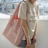 帆布袋 素色 斜紋棉 不收邊 流蘇 手提袋 環保購物袋--手提/單肩【SPBX01】 icoca  07/19