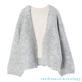 「Winter」【WEB限定】彩色混紡溫暖感毛絨開襟罩衫 - earth music&ecology