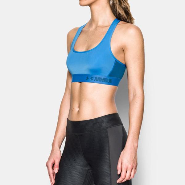 UA Armour Crossback [1276503-464] 女 運動 內衣 瑜珈 健身 支撐 舒適 藍