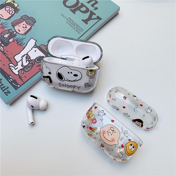 Airpods Pro 專用 台灣發貨 [ 透明史努比查理布朗 ] 藍芽耳機保護套 蘋果無線耳機保護