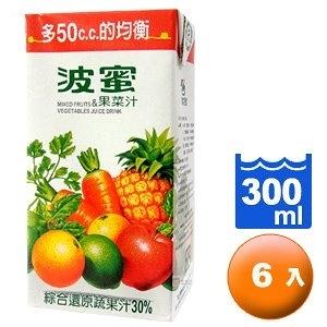 波蜜 果菜汁 300ml (6入)/組【康鄰超市】