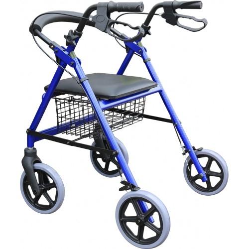 富凱源機械式輪椅(未滅菌) 鋁合金助步車  JI833 鋁製四輪車標準款