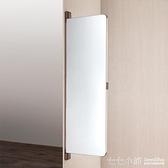 平開門衣柜鏡子穿衣鏡全身鏡歐式化妝推拉鏡旋轉伸縮折疊試衣鏡壁