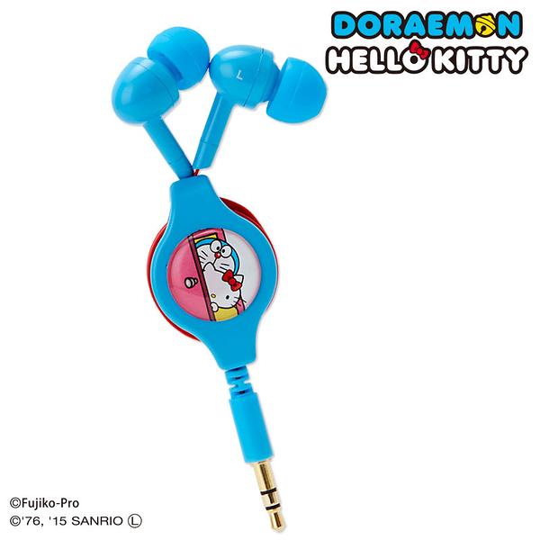 尼德斯Nydus~* 日本三麗鷗 Hello kitty 凱蒂貓 小叮噹 哆啦a夢 夢幻聯名 捲線收納 耳塞式 耳機