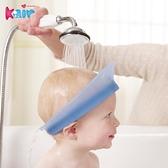 kair一代硅膠洗頭神器10歲兒童防水護耳氣墊式防漏藍色洗發帽 「青木鋪子」