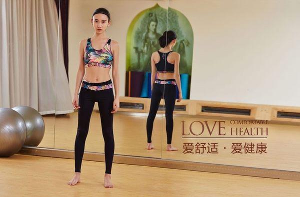 春夏季健身服瑜伽服套裝女瑜珈運動文胸跑步服緊身衣  - xby004