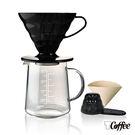 【TCoffee】HARIO-V60黑色樹脂濾杯咖啡壺組