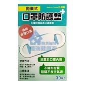 拋棄式 口罩防護墊 台灣製 30片/盒◆德瑞健康家◆