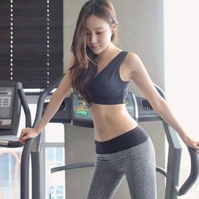 瑜珈服套裝含健身衣+運動褲-韓版透氣運動背心長褲女運動服69n36【時尚巴黎】