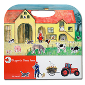 【虎兒寶】比利時 Egmont Toys 艾格蒙繪本風遊戲磁貼書 - 開心農場