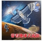 老鷹風箏成人大型微風易飛卡通兒童風箏高檔鋼鷹飛陽風箏線輪 交換禮物  YYS