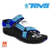 【Teva】女款 HURRICANE XLT 織帶機能運動涼鞋 - 民俗藍 (4176LGBE)【全方位運動戶外館】