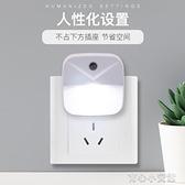 感應燈買 創意光控感應小夜燈節能插電黃暖光起夜燈廁所走廊衛生間 育心館