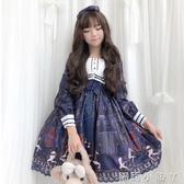 蘿莉裝日系軟妹可愛春夏日常Lolita學生op長袖二次元洋裝蘿莉洋裝少女 NMS蘿莉小腳丫