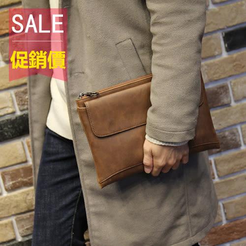 PocoPlus 新款男士手包男超大容量手拿包軟皮商務休閒男士手包信封包 B898