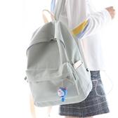 後背包 新品 NR諾然小清新純色帆布雙肩包女韓版書包女中學生雙肩背包