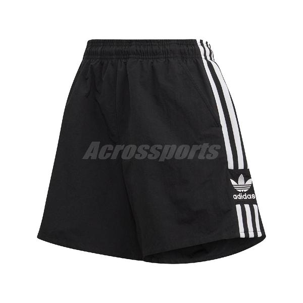 adidas 短褲 Adicolor Shorts 黑 白 女款 運動休閒 【ACS】 FM2595