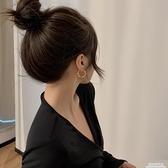 耳圈金屬小圈設計感耳環女簡約網紅耳飾銀針2020年新款耳夾無耳洞 極簡雜貨