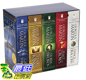 [106美國直購] 權利遊戲 Game of Thrones 5-copy boxed set (George R. R. Martin Song of Ice and Fire Series)