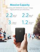 市場最低價 PowerCore II 10000黑色 18W輸出 體積小 外出易攜 iphone8以上適用 A1230