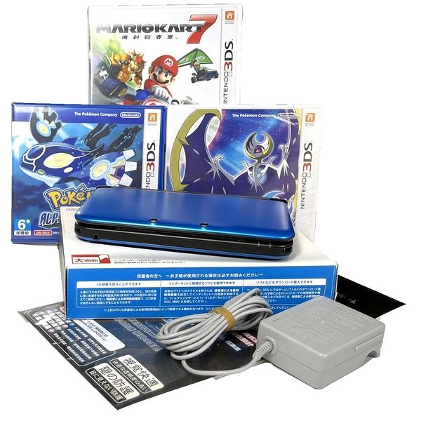 【N3DS XL主機】 藍黑色 中文3DSXL LL主機+賽車7等遊戲【台灣機 可讀日規片 中古二手商品】台中星光