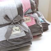 薄款輕奢包邊簡約法蘭絨毯子 空調毛巾毯 純色午睡毯沙發蓋毯 艾尚旗艦店