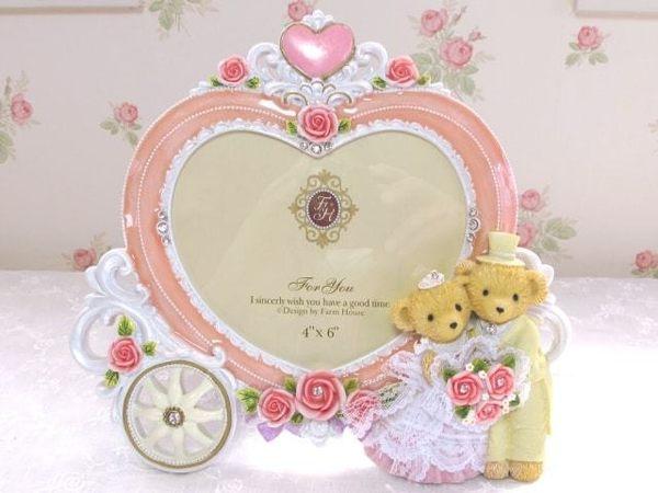泰迪熊結婚相框944405通販屋