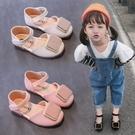 女童涼鞋 女童方扣公主涼鞋春季新款小女孩單鞋軟底防滑中小童時尚正韓-Ballet朵朵