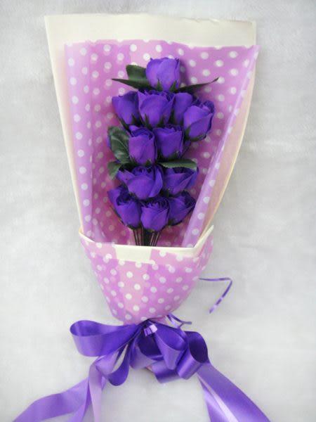 花束禮盒-紫 婚禮佈置   婚禮小物【皇家結婚用品】